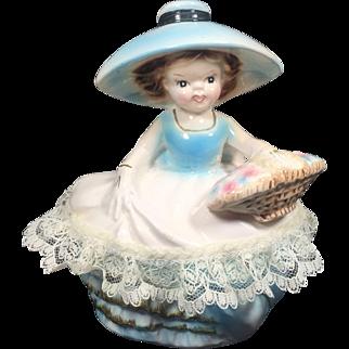 Ucagco Ceramic Figural Lady Vanity or Dresser Dish