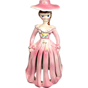 Kreiss Pink Napkin Holder Lady w Candle Holder Hat