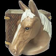 Vintage Ceramic Horse Head Planter