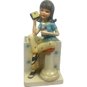 Retro Teen Girl at Soda Shop Planter
