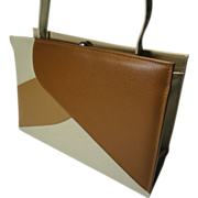 Retro Neutral Color Block Faux Leather Purse