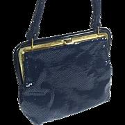 Shimmering Vintage Navy Blue Purse