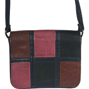 Spilene Geometric Patchwork Leather Mailbag Purse