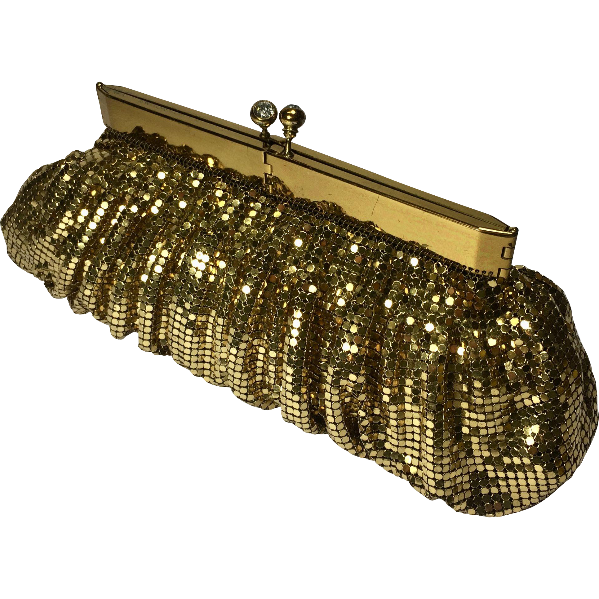 Gold Mesh Clutch Evening Purse