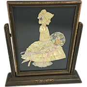 Bridesmaid / Belle in Yellow Ribbon Doll in Art Deco Wood Swing Frame