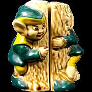Hide & Seek Elves Around Tree Salt & Pepper Shaker Set