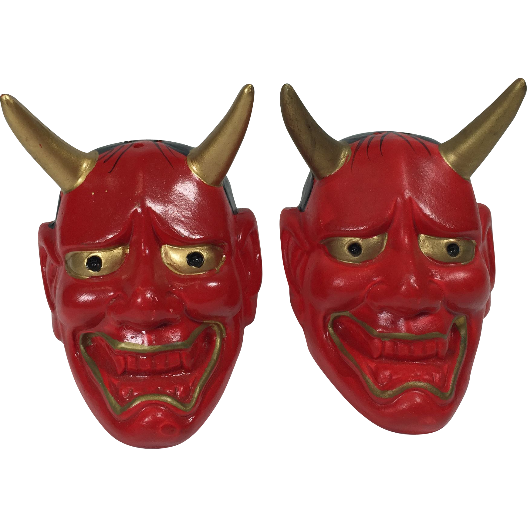 Devil Head Salt Pepper Shakers Souvenir of Hell Michigan SOLD on ...