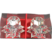 Astro Lucite Salt & Pepper Shakers w Original Box