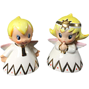 Holt Howard Style Mid-Century Christmas Angels Salt & Pepper by Lefton
