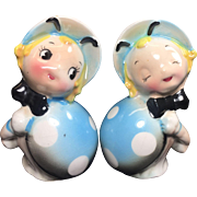 Vintage Anthropomorphic Salt Pepper Shakers Ladybugs