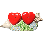 Vintage Salt & Pepper Shakers Valentine Cupid's Arrow Hearts
