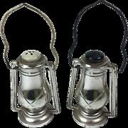 Vintage Salt & Pepper Shakers Lanterns Plastic Metal