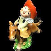 Vintage Cowboy Riding Horse Salt Pepper Shakers