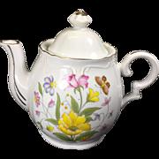 Vintage Musical Tea Pot w Spring Flowers Tea for Two