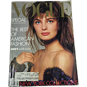 Vintage Vogue Fashion Magazine BIG Septemeber 1986 Back to School