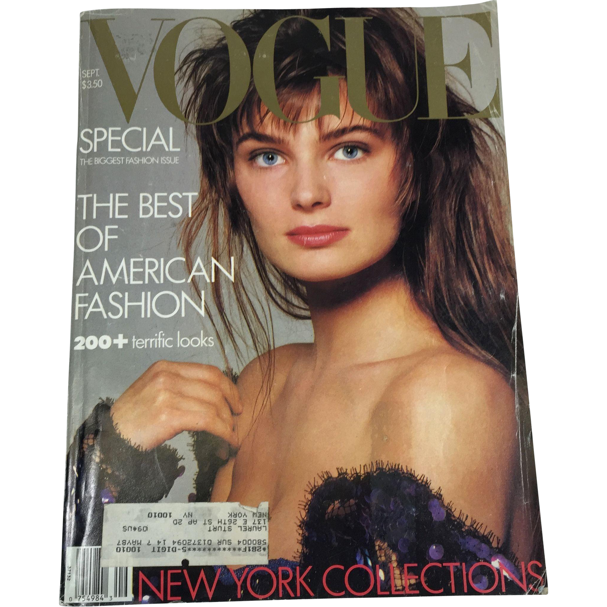 September 1986 Vogue BIG Fashion Magazine