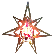 Atomic Rotating Merry Glow Christmas Tree Topper or Table Stand Light