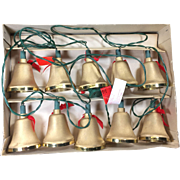 Vintage Christmas Bell Ornament Lights