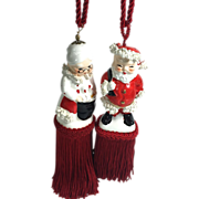 Vintage Napco Shaker Christmas Ornament Tassels / Tiebacks