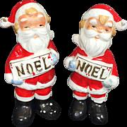 NOEL Santa Claus Salt & Pepper Shakers