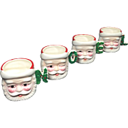 NOEL Ceramic Christmas Santa Mugs