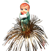 Vintage Elf Knee Hugger Christmas Tree Topper Centerpiece