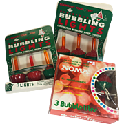 Vintage Christmas Bubble Lights Noma Imperial Three Packages