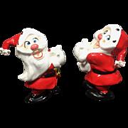 Vintage Christmas Santa Psycho Kreiss Candleholders