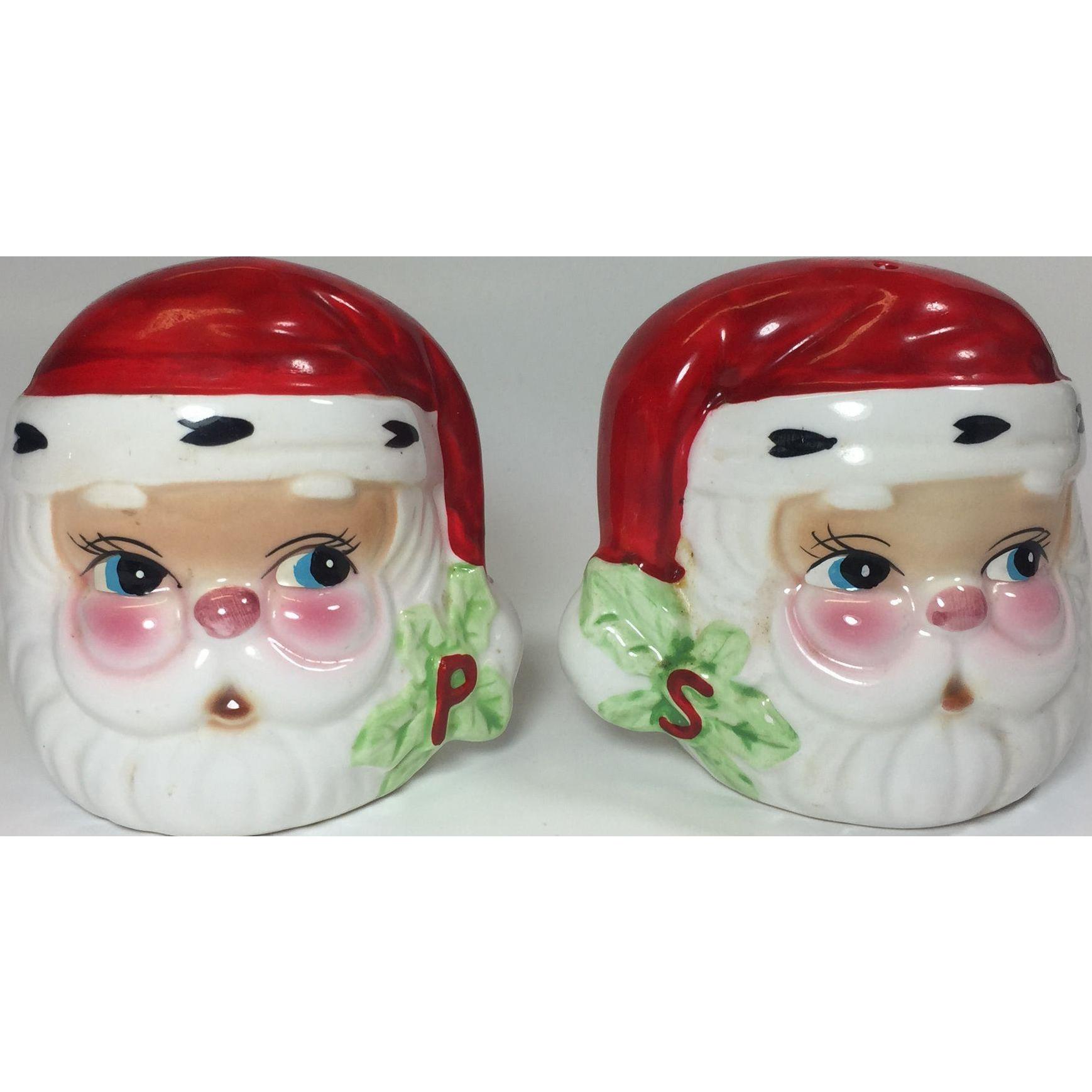 Vintage Christmas Santa Salt Pepper Shakers