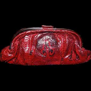 Fabulous Snake Python Skin Clutch Handbag
