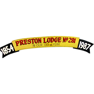 Vintage Mason Lodge Sign
