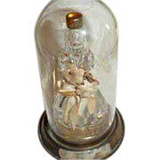 Vintage Figural Yesteryear Southern Belle Perfume Bottle with Original Glass Dome