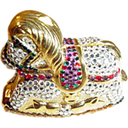 Swarovski Crystal Rocking Horse Minaudiere ~ Trinket Box ~ Made in Italy ~ Spectacular!!