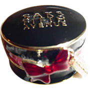 Estee Lauder Saks Fifth Avenue High Style Hat Box Solid Perfume Compact ~ Very Limited Edition!