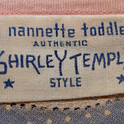 Adorable 1930's tagged Nanette Shirley Temple brand toddler dress
