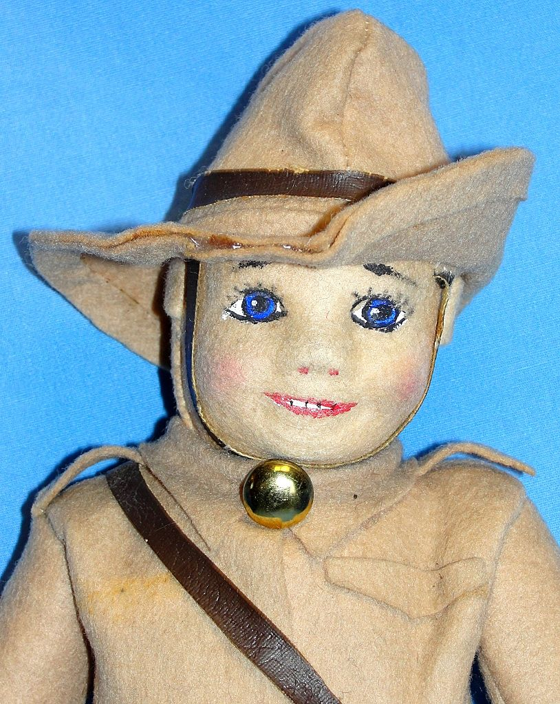 Vintage Cloth Doll in Uniform