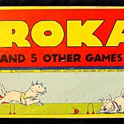 "Vintage American Game: 1937 ""Krokay"" (Croquet) multi game w/ ORG. box"