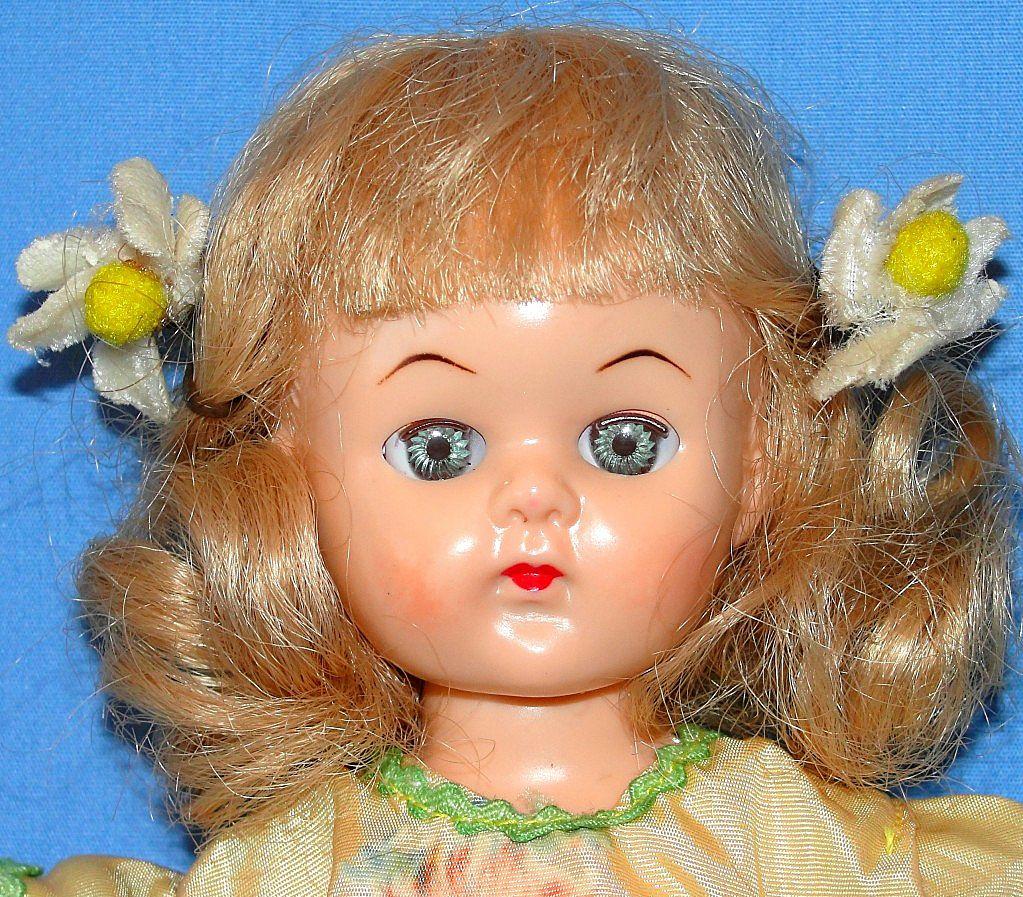 1950's All Original Hard Plastic Virga Doll Walker  - NICE!
