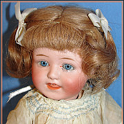 Antique Gebruder Heubach Character Baby Doll, Rare EARLY Mark, HEUBACH IN BLOCK Letters