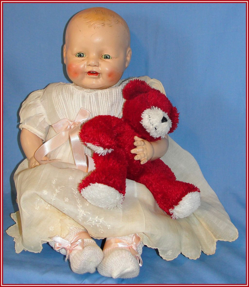 Chubby 1928 Baby Dimples Doll by Horsman - as is