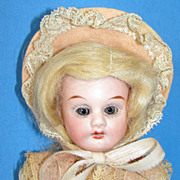 "Antique Cabinet Size  8 1/2"" Porzellanfabrik Rauenstein bisque doll"