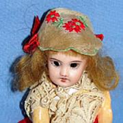 """Petite 5"""" Antique French Parisian Mignonette Bisque Doll - SFBJ 301"""