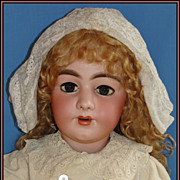 "Monumental 35"" Superb Quality Antique Simon & Halbig 949 Bisque Doll w/ fab French Body"