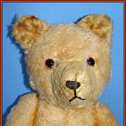 Early straw stuffed Mohair Teddy  Bear - Looks like an old Pooh Bear