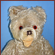 Old German Mohair Teddy Bear - Hermann Zotty, w/ Open Mouth