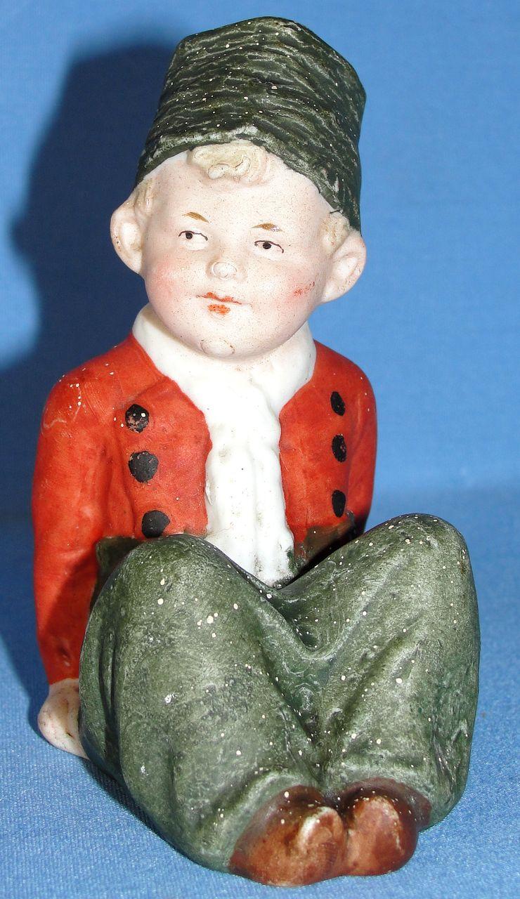 Antique German Heubach Small Dutch Boy Bisque Figurine