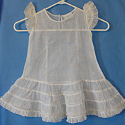 Vintage Organdy Girl's Dress: Shirley Temple Brand Cinderella Frock