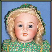 "Beautiful 26"" Simon & Halbig Antique Bisque Child Doll w/ Wardrobe"