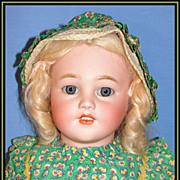 "Beautiful 26"" Simon & Halbig Antique Bisque Child Doll w/ Wardrobe"