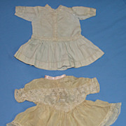 Two Antique Doll Dresses for Bisque Dolls